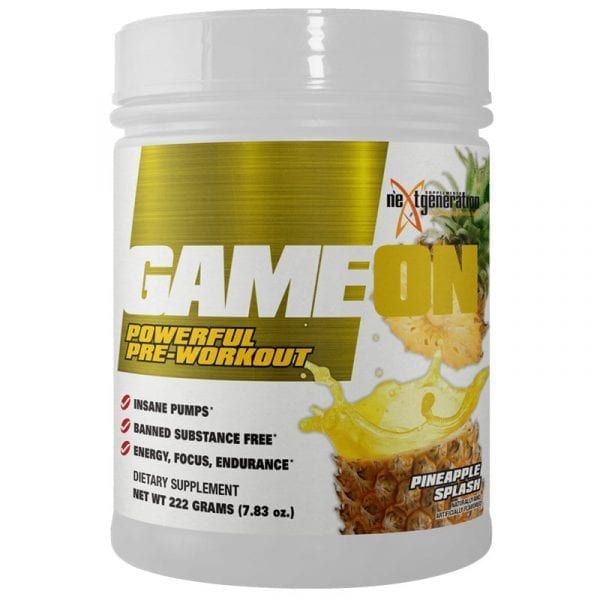Game On Pre Workout Pineapple Splash 222g
