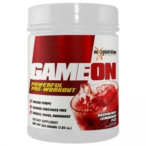 Game On Pre Workout Raspberry Lemonade Fizz 222g