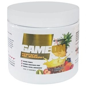 Game-On Pre Workout Tropical Crush 225g