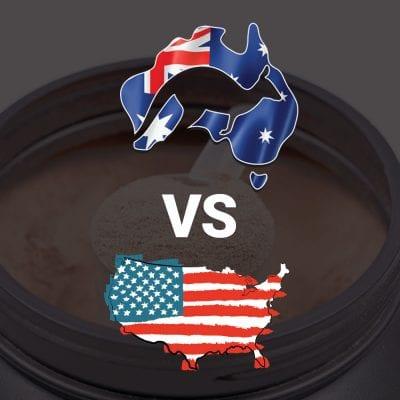 Australian protein powder vs USA protein powder